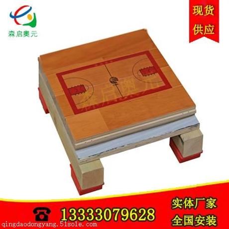 单龙骨体育场木地板高水准施工方案