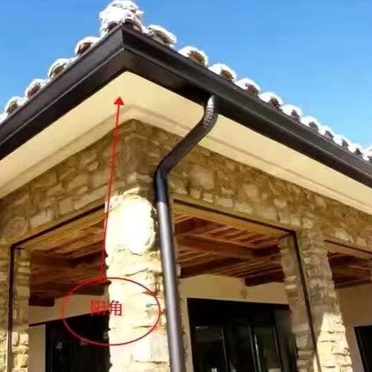 彩�瓦屋檐接水槽�e墅天�嫌晁�槽排水系�y