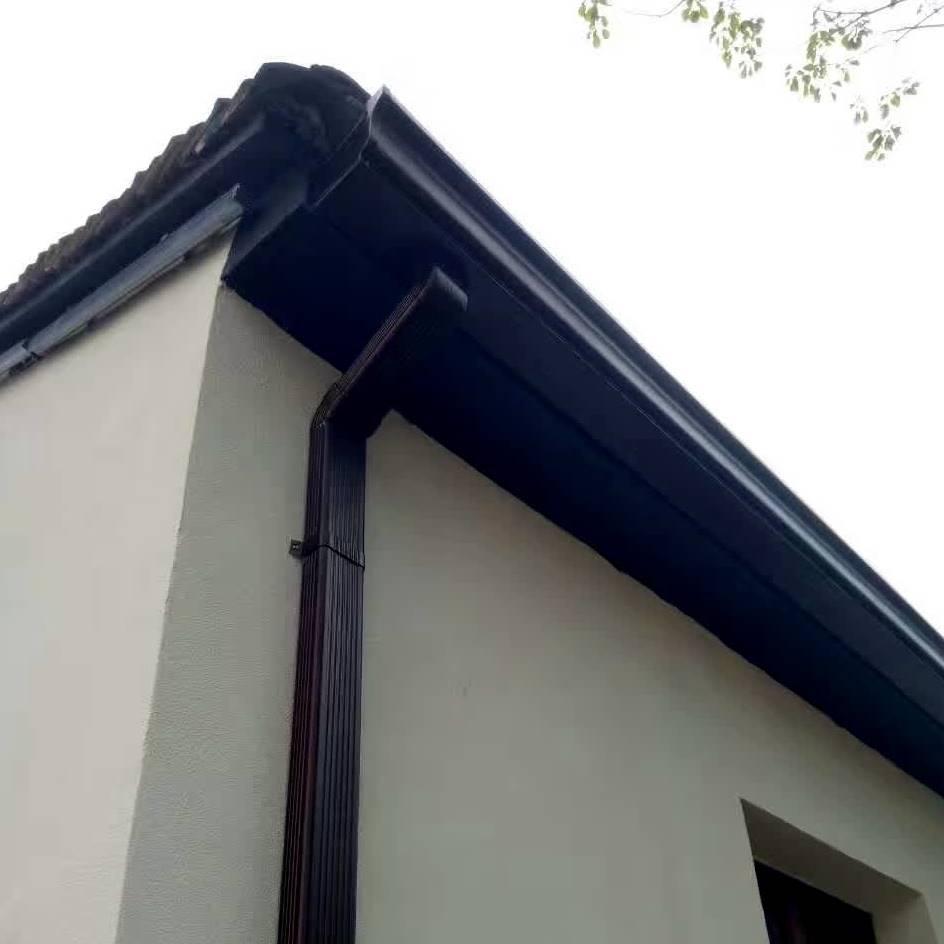 江西pvc古�~色u型雨水槽屋檐接水槽
