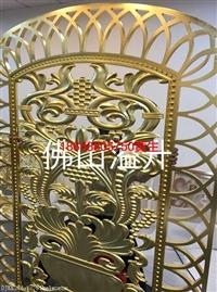 别墅直形铜楼梯护栏K金铜屏风厂家