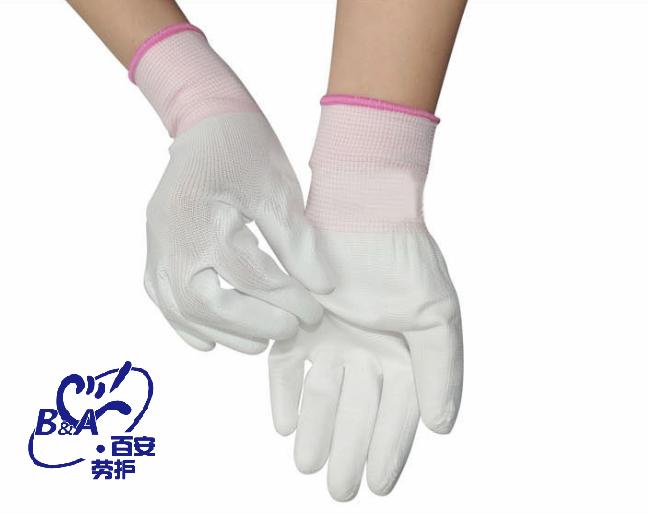 厂家专业生产PU涂层手套,专业防静电手套