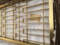 厂家定做镜面钛金镂空屏风,经济实惠