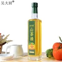 吴大厨山茶油500ml食用油茶籽油植物油月子油