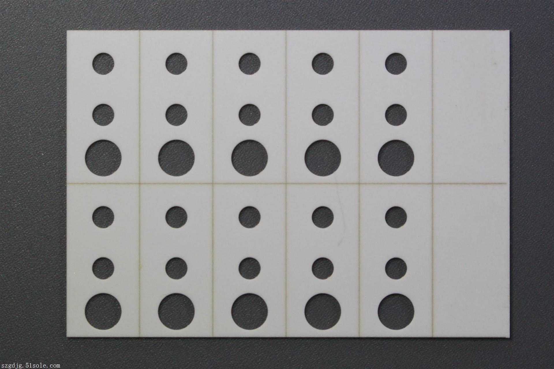 0.6mm氧化铝陶瓷激光切割