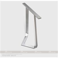 定做定制高档实木板桌架304不锈钢桌脚桌架支架斜倒角工艺