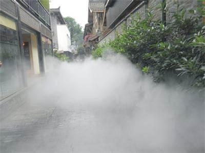别墅花园绿化带人工造雾系统