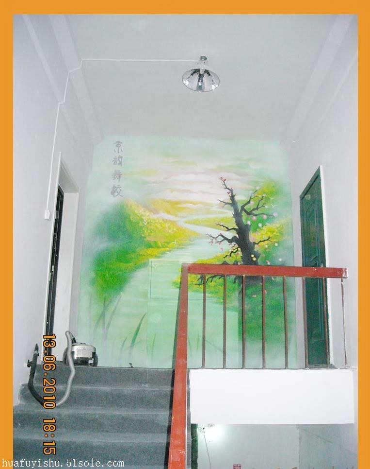 墙绘素材,手绘壁画