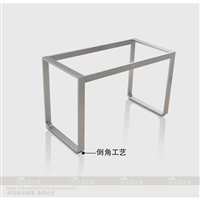 定做不锈钢金属餐厅台支架饭桌餐桌桌架厨房橱柜脚架会议桌桌腿