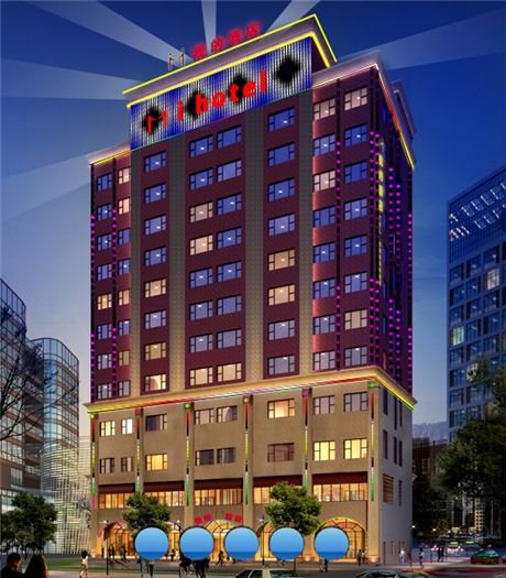 东莞酒店外墙亮化工程,刘鑫广告打造领先品牌