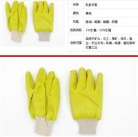 皱纹挂胶防滑手套 耐油耐磨耐割手套 耐弱酸碱手重工业手套