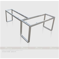 不锈钢L型桌架拐角型电脑桌腿7字形支架定制定做