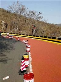 河南彩色路面郑州户外停车场彩色陶瓷路面小区景观通道路面