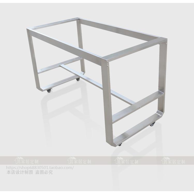 定做304拉丝不锈钢电脑桌架办公桌架