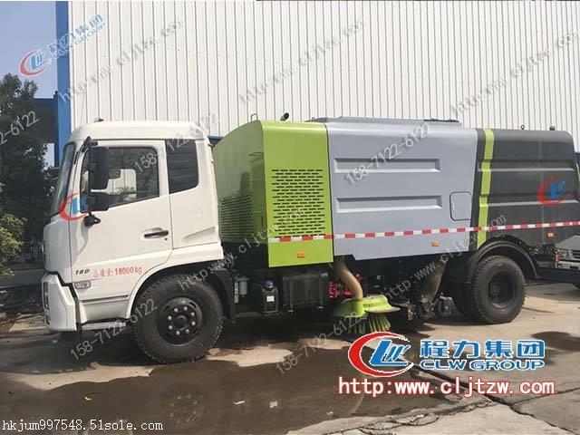 程力专汽东风天锦8吨洗扫车
