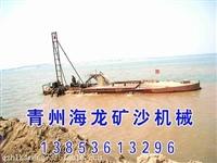 青州海龙矿砂机械有:抽沙运输船 二手抽沙船 筛沙水洗设备