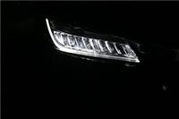 车灯不亮蜡烛灯改灯双光透镜本雅阁换LED羽翼大灯总成流光转向