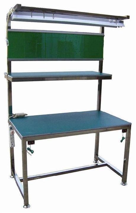 不锈钢防静电工作台 不锈钢孔板式平台