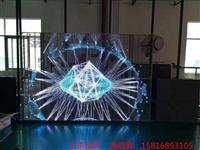玻璃栈道爆裂特效屏专家透明LED显示屏灯杆节能屏