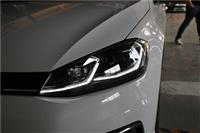 车灯不亮高尔夫7.5七代半改装大灯总成LED日行灯流光转向