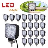 畅销款 越野车 汽车LED工作灯 27w方形大灯 工程灯检修灯