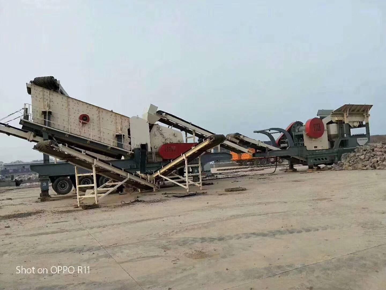 山东移动式建筑垃圾破碎站 石料厂碎石机生产线