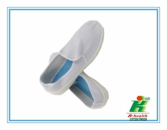 厂家直销防静电白色帆布中巾鞋,小工鞋