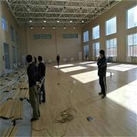 篮球场实木地板厂家 室内篮球馆实木地板安装