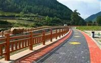 杭州地区怡杰园林仿木栏杆厂家