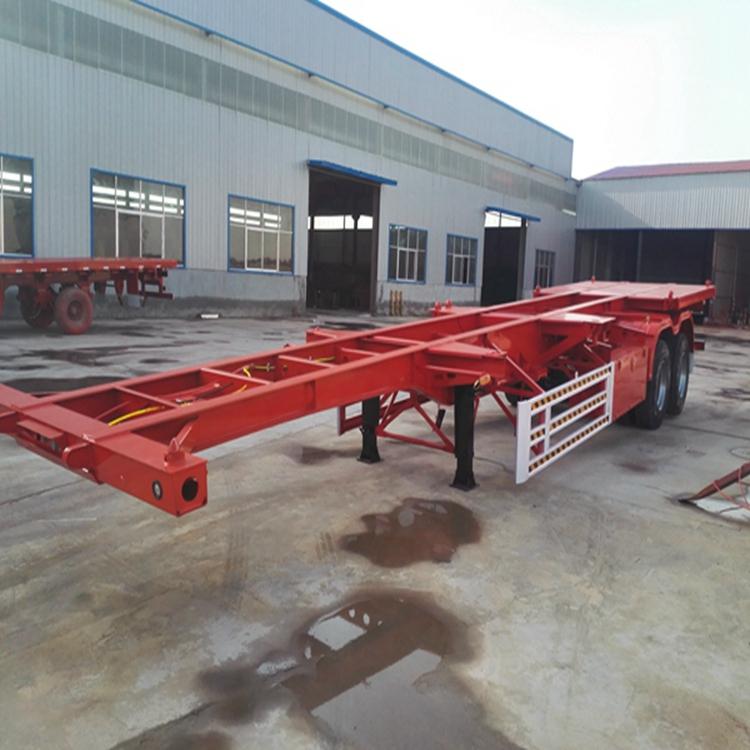 7米5二桥集装箱骨架车车盘宽度