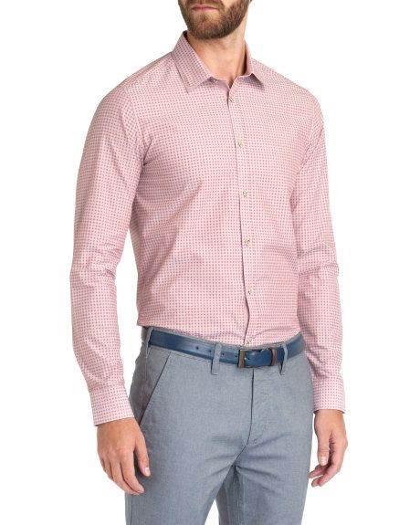 衬衣定制夏日粉色衬衣
