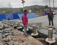 青岛遥控升降桩,景区款可拆卸路桩,圆形电动路桩
