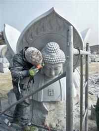 大型漢白玉石雕佛像 寺廟觀音佛像加工