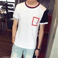 时尚男装T恤批发韩版男装潮流男装T恤批发纯棉男装T恤