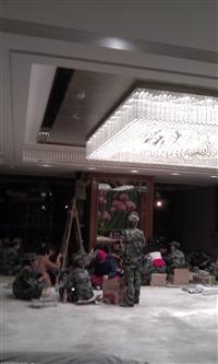 定制酒店大堂水晶玫瑰吸顶灯