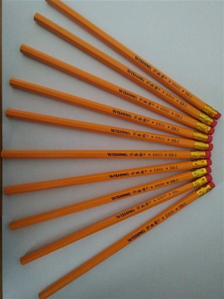 威圣6900黄杆皮头笔