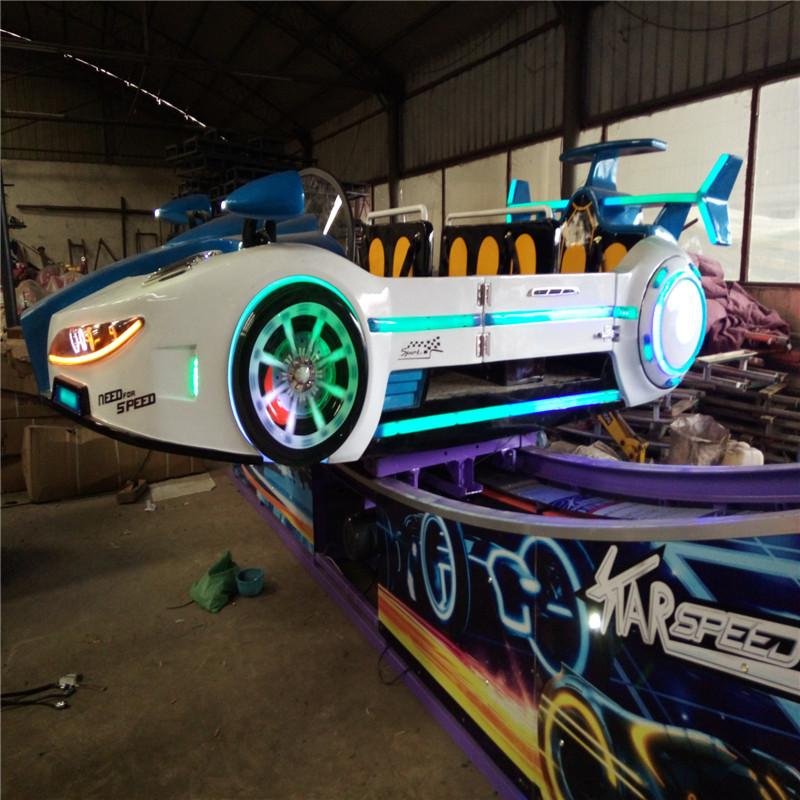 郑州厂家生产全新款弯月飞车 时代飞车