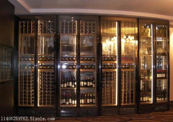 不锈钢玫瑰金红酒柜电子恒温不锈钢酒柜