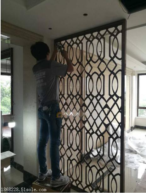 不锈钢装饰隔断镂空金属隔断不锈钢屏风厂家