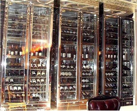复古欧式不锈钢酒架落地式不锈钢酒柜