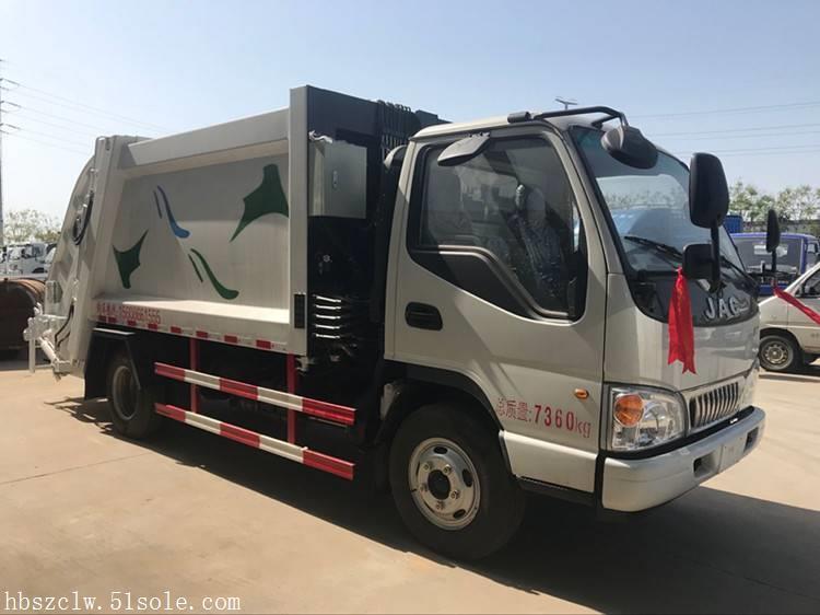 江淮6立方压缩垃圾车 程力威牌CLW5070ZYSH5型压缩式垃圾车