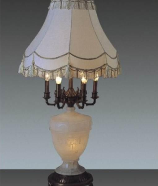 云石台灯 全铜玉石台灯 卧房卧室装饰台灯