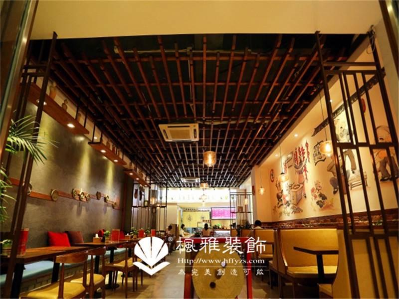 合肥中餐馆装修 特色餐饮店装修 小型餐饮店装修设计