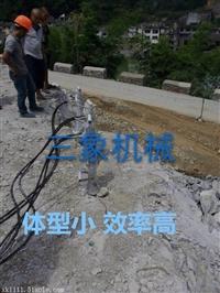 新疆岩石分裂机分裂岩石时可控制分裂方向分裂精度高