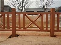 江西赣州河道边水泥仿木护栏杆