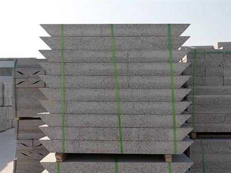 直销五莲灰石材厂家 天然花岗岩S型路沿石定制