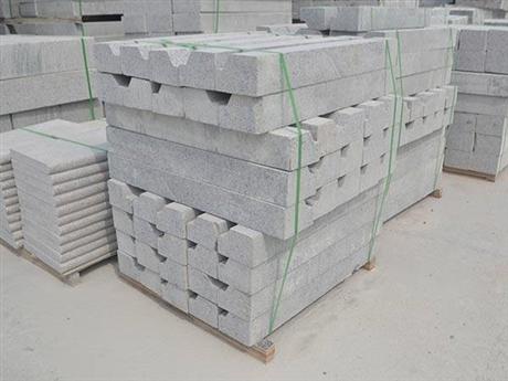 灰色花岗岩工程路沿石厂家直销 北方五莲灰石材
