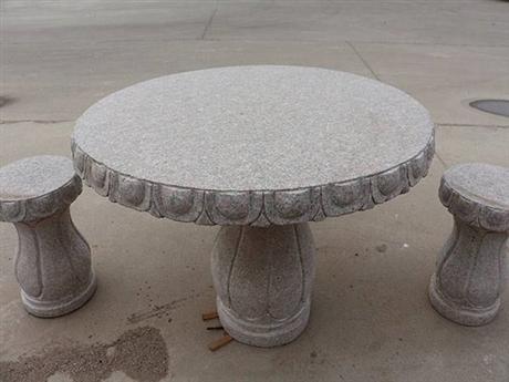 现货直销五莲红石材   石材圆球石墩石桌