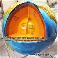 艺星教学 厂家直销树脂工艺地理园凹凸地球内部构造仪模型