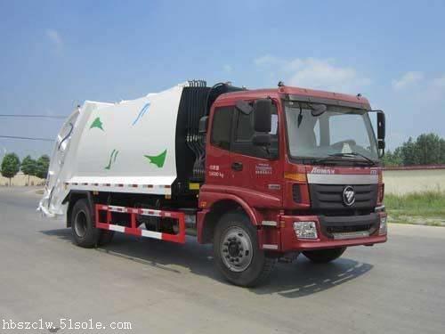 福田欧曼10方压缩式垃圾车 程力威牌CLW5160ZYSB5型压缩式垃圾车