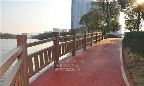 艺高景观混凝土水泥仿木栏杆护栏